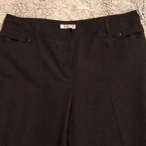 Dress barn Crop Trousers - Black - Size 16